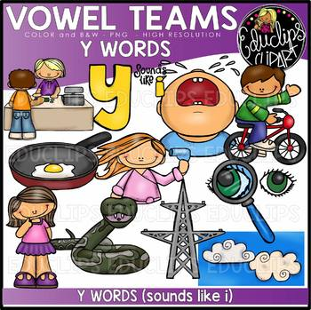 Long I Vowel Team 'y' (i sound) - Clip Art Bundle