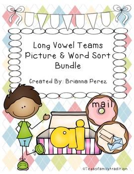Long Vowel Teams Picture & Word Sorts Bundle