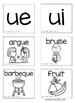 Long Vowel Teams: UE  & UI (Color and B&W)