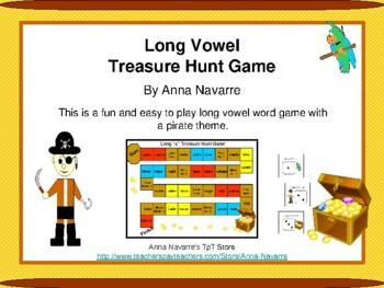 Long Vowel Treasure Hunt Game