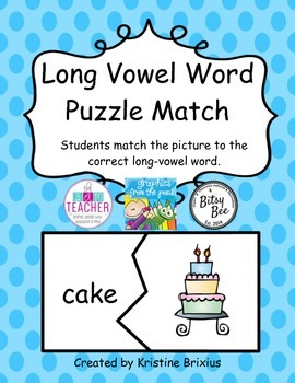 Long Vowel Word Puzzle Match