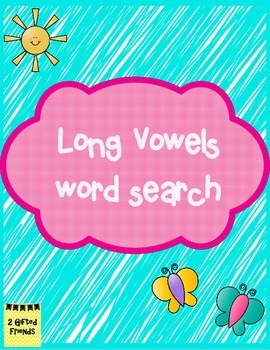 Long Vowel Word Search