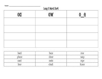 Long Vowel Word Sorts Bundle