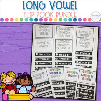 Long Vowel Words- Flip Book Bundle