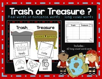 Long Vowel Words : Trash or Treasure?