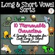Long Vowel and Short Vowel Sorts: Interactive Notebook