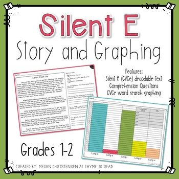 Long Vowel CVCe Word Search Story and Graphing