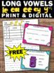 FREE Long e Vowel Teams Task Cards Phonics Games 1st Grade