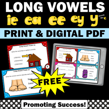 free long vowels activities for kids
