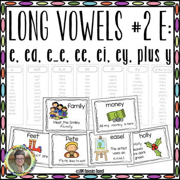 Long Vowels #2 E:  e, ee, ea, ei, ey Plus y Interactive Wo
