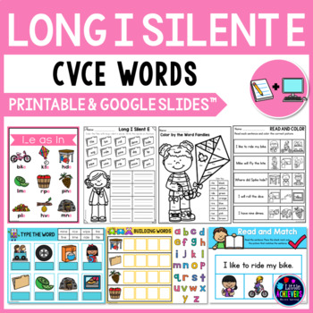 Long Vowel Worksheets and Activities - Long I Silent E