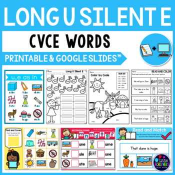 Long Vowel Worksheets and Activities - Long U Silent E