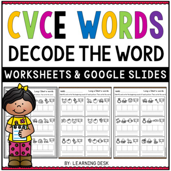 Long Vowels Worksheets - Secret CVCE Words
