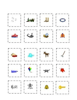 Long Vowels Flash Cards Cut Paste Match a e i o u  Kinderg