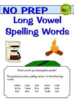 Long Vowels Spelling Practice