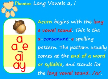 Long Vowels a, i