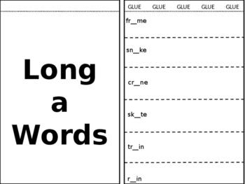 Long a Short a Interactive Notebook