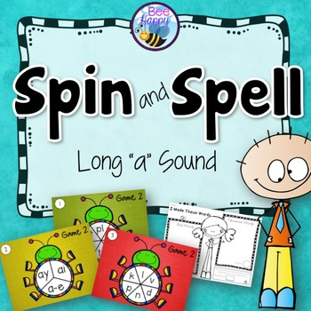 """Long """"a"""" Sound (ai, ay, a-e) Game - Spin and Spell"""