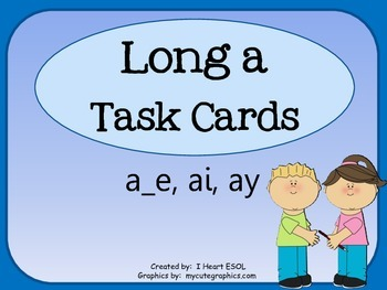 Long a Task Cards or Scoot Game