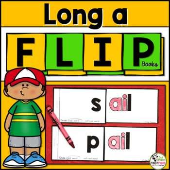 Long a (a_e, ai, ay) Word Family FLIP Books