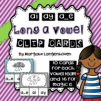 Long a Vowel Sound Clip Cards