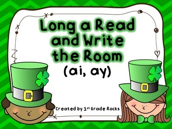 Long a (ai, ay) Read and Write the Room