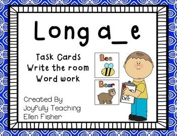 Long a magic/silent e task cards