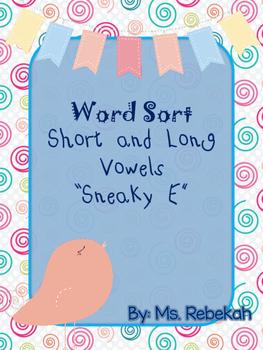 Long and Short Vowel CVC Silent E Word Sorts