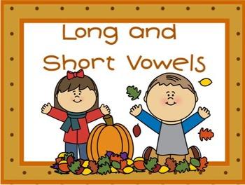 Long and Short Vowel Activity Autumn Theme