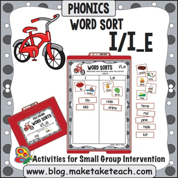 Long and Short Vowel i - i/i_e File Folder Word Sort