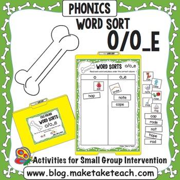 Long and Short Vowel o - o/o_e File Folder Word Sort
