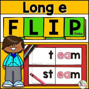 Long e (ee, ea) Word Family FLIP Books