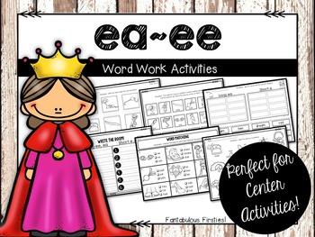 Long ea/ee Word Work Activities