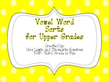 Long i, Short i Word Sort for Upper Grades