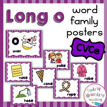 Long o CVCe Word Family Posters