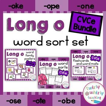 Long o CVCe Word Sort Set Bundle