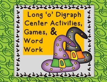 Halloween Long 'o' Digraph Activities, Games, Word Work-Fa