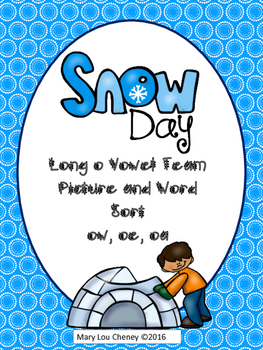 Long o Vowel Team Picture and Word Sort