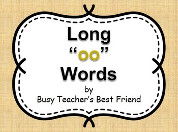 """Words with short and long """"oo"""" PowerPoint and Flash Cards"""