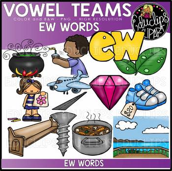 Long u Vowel Team - 'ew' - Clip Art Bundle {Educlips Clipart}