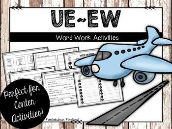 Long ue/ew Word Work Activities