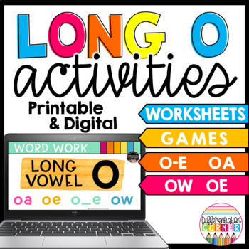 Long vowel O activities