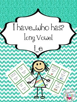 Long vowel i_e - I have, who has game cards (with and with