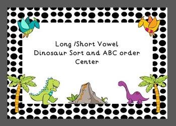 Long/Short Vowel Dinosaur Sort with ABC Order