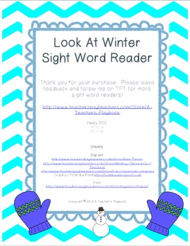 Look At Winter- Sight Word Reader