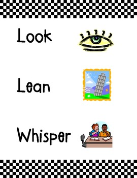 Look, Lean, and Whisper Poster
