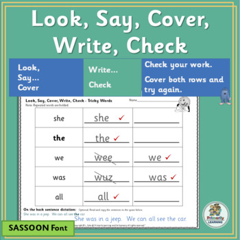 Amazing Sight Words Practice ~ Look Say Cover Write Check