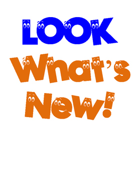 Look What's New!  Sign/Poster