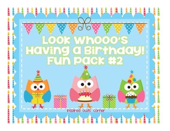 Owl Birthday Pack