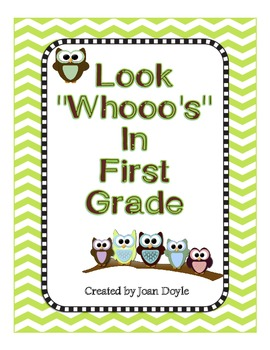 Look Whooo's In First Grade {Back to School Owl Theme All